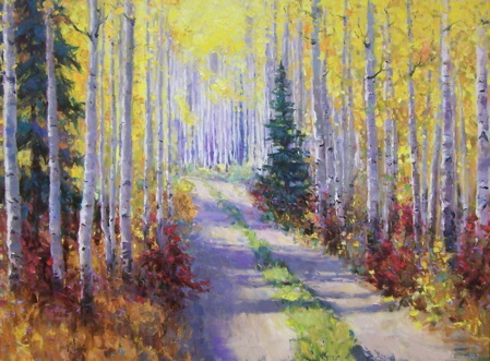 Down a Road through Aspen