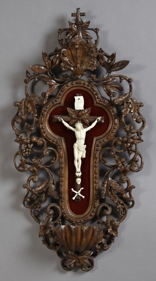 French Crucifix Plaque