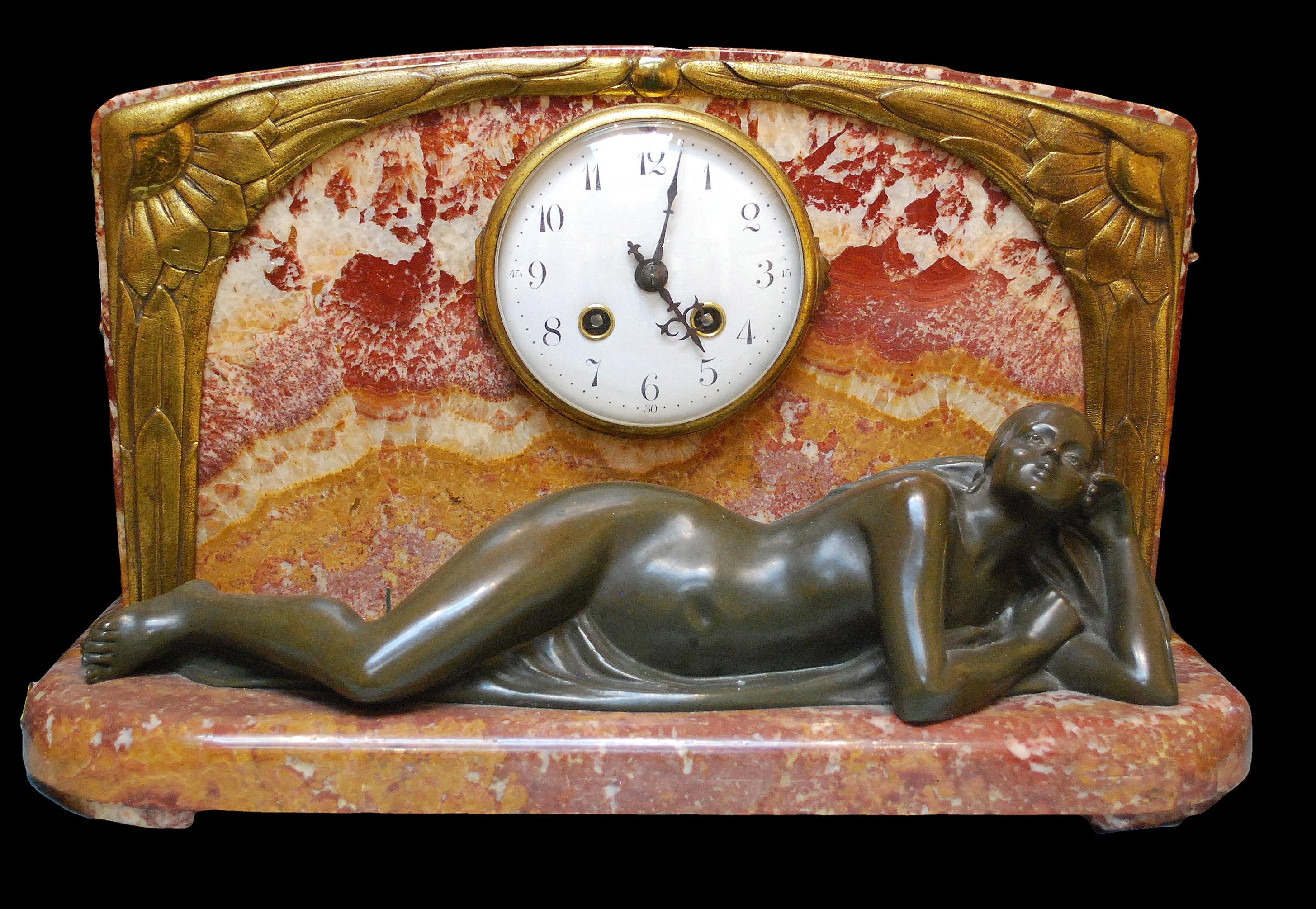 French art nouveau clock
